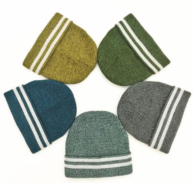 反光纱腈纶针织毛线帽
